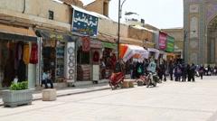 in iran shiraz the old historic bazaar - stock footage