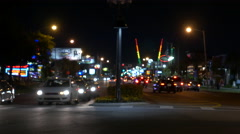 4k night time traffic time lapse in Orlando Florida tourist area Stock Footage