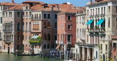 Venice canal street palazzo architecture. Venice gondola. Venice travel - stock footage