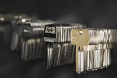 Metal blank keys - stock photo