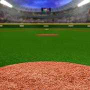 Baseball Stadium With Copy Space Stock Photos