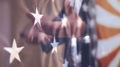 Presidential campaign in America - stock footage