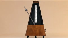 Metronome On Table With Arm Moving At Largo Tempo - stock footage