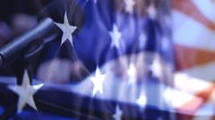 Presidential campaign in America  Stock Footage
