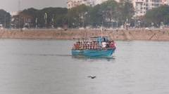 Boat-ride-on-hussain-sagar-lake Stock Footage