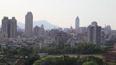 Taipei Cityscape Taiwan Stock Footage