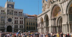 Basilica di San Marco, Piazza San Marco, San Marco square, St. Mark square. Stock Footage
