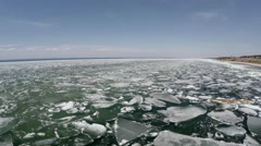 Breaking the Ice on a Large Lake Stock Footage