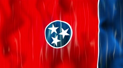 Tennessee State Flag Animation - stock footage