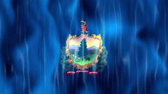 Vermont State Flag Animation Stock Footage
