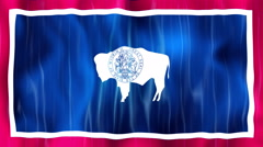 Wyoming State Flag Animation Stock Footage