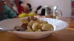 Close up plate with hot pasta Stock Footage