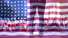 Presidential campaign in America ,Presidential election in USA - stock footage