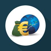 Global economy design. money icon. isolated illustration - stock illustration