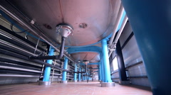 Tanks, storages at a pharmacy factory Stock Footage