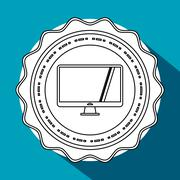 Call center design. Customer service icon. Flat illustration - stock illustration