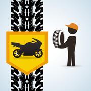 Repair design. auto icon. isolated illustration Stock Illustration