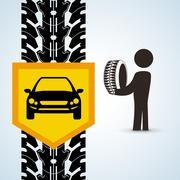 Repair design. auto icon. isolated illustration - stock illustration