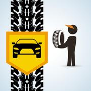 Repair design. auto icon. isolated illustration Stock Illustration