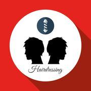 Hair salon design. Hairdressing icon. , vector silhouette style , vector - stock illustration