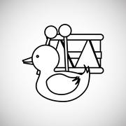 Toy design. childhood icon. Colorful illustration - stock illustration