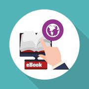 eBook  design. reading icon. White background , vector illustration , vector - stock illustration