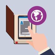 EBook  design. reading icon. White background , vector illustration , vector Stock Illustration