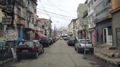 Typical street in Rio de Janeiro, Brazil Stock Footage