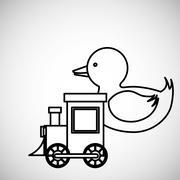 Toy design. childhood icon. Colorful illustration Stock Illustration