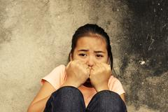 Young Lady with Trauma - stock photo
