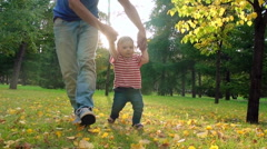 Making First Steps Stock Footage