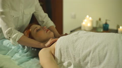 pregnant woman doing massage - stock footage