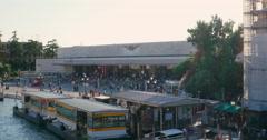Santa Lucia Stazione venetian railroad terminal, Venice, Italy. Italian station Stock Footage
