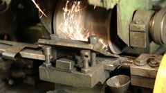 Needles. USSR. Laser CNC lathe. Plasma cutting of metal. Stock Footage