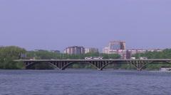 Makarov bridge in Yekaterinburg Stock Footage