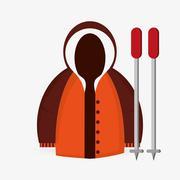 Winter design. Sport icon. Colorful illustration  , vector - stock illustration