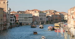 Italian Venice city canal navigation. Italian architecture, Venice. Stock Footage