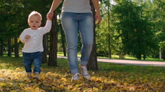Walking With Little Cutie - stock footage