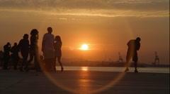 Sunset in Docks - Rio de Janeiro - Brazil Stock Footage