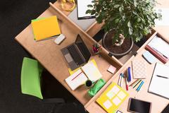 Business mess on working table in office Kuvituskuvat