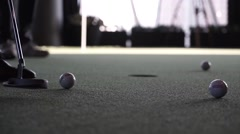A successful game of golf Stock Footage