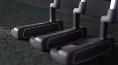 Golf clubs Stock Footage