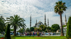 Istanbul. Blue mosque (Sultanahmet) Stock Footage
