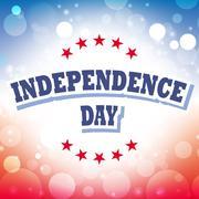 Independence Day usa banner on celebration background - stock illustration