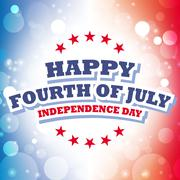 Happy Fourth of July America greeting card with celebration background Stock Illustration
