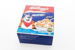 BANGKOK, THAILAND - MAY 27, 2016 :  Cereal box brand kelloggs isolated on whi - stock photo