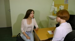 Lady at the doctor Stock Footage