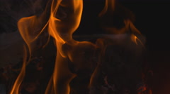 Gorgeous flames in Slow Motion Stock Footage