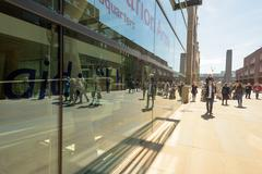 LONDON - ENGLAND 1ST MAY 2016 - Tourists walk past the Salvation Army Headqua Stock Photos