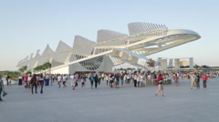 14 Bis and Museum of Tomorrow - Rio de Janeiro - Brazil Stock Footage